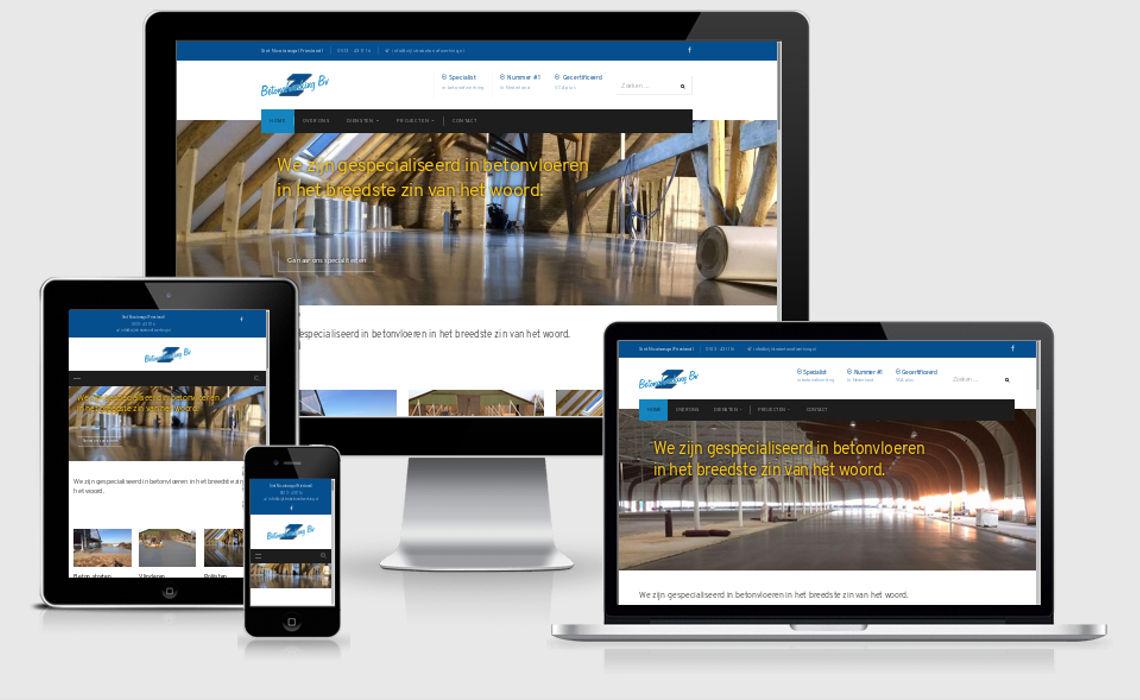 Voorbeeld website zijlstrabetonafwerking.nl