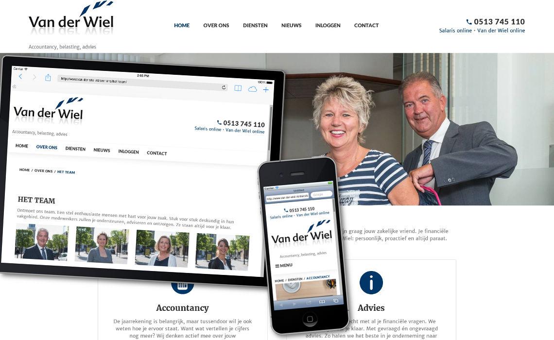 Website van der wiel.nl