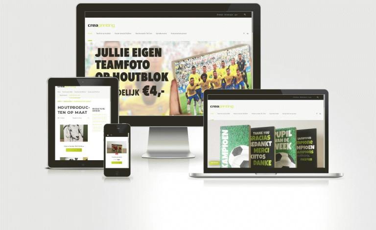 Voorbeeld webshop creaprinting.nl