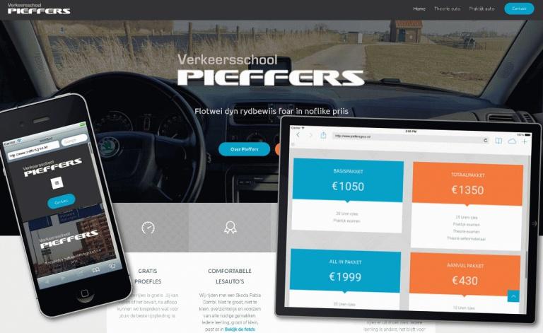 Voorbeeld website pieffersgrou.nl