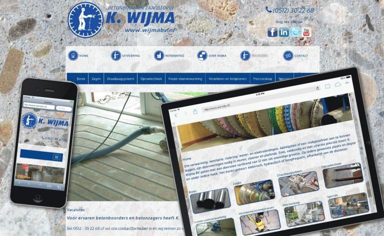 Voorbeeld website wijmabv.nl